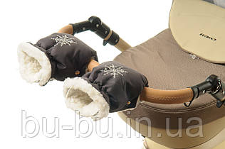 Рукавички-Муфта на коляску Ok Style Снежинка Графит