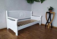 """Белый диван кровать из массива дерева """"Орфей Премиум"""""""