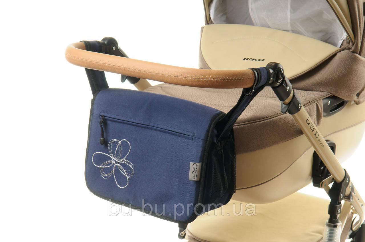 Сумка на коляску Ok Style Цветок Темно синий