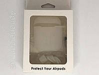 Чехол прозрачный для Airpods с карабином №2