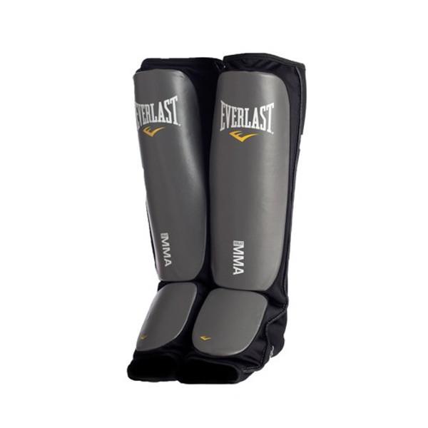 Оригинальная защита Эверласт.Защита голени и стопы. Защита голеностопа Everlast MMA SHIN GUARDS black 7951BLXL