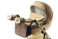Комплект сумка і рукавички на коляску Ok Style Квітка (Капучіно), фото 1