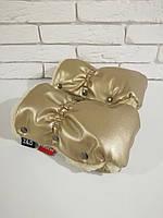 Рукавички-Муфта на коляску Z&D New Еко кожа (Золотой), фото 1