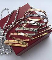 Браслет Cartier love с отверткой люкс копия 1:1 (Картье) лимонное(желтое) золото 16 размер, фото 1