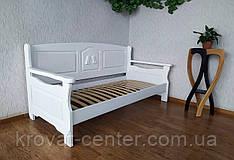"""Білий кухонний диван з масиву дерева """"Орфей Преміум"""" від виробника"""