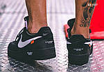 Мужские кроссовки Nike Air Force (Черные), фото 2