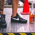 Мужские кроссовки Nike Air Force (Черные), фото 3