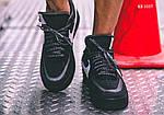 Мужские кроссовки Nike Air Force (Черные), фото 4