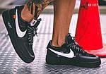 Мужские кроссовки Nike Air Force (Черные), фото 6