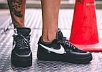 Мужские кроссовки Nike Air Force (Черные), фото 7