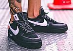 Мужские кроссовки Nike Air Force (Черные), фото 8