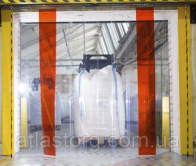 Енергозберігаюча стрічкова ПВХ завіса Німеччина Н2000х725мм, стрічка 200х1.7 мм, будь-які розміри