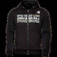 Gorilla Wear, Кофта с капюшоном на замке Bowie Mesh Zipped Hoodie Black, черная