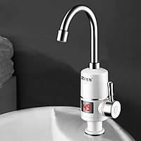 ★Кран-водонагреватель GZU ZM-D1 для мгновенного нагрева воды проточный LCD дисплей смеситель для воды 3 кВт