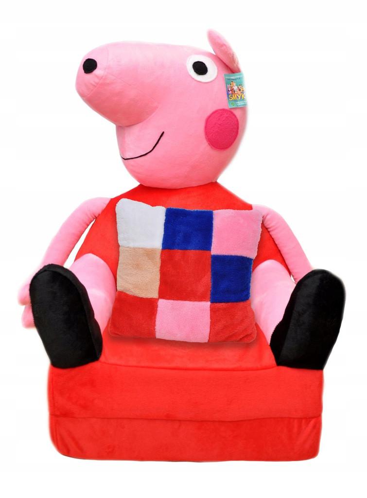 Детское мягкое раскладное кресло Peppa Pig