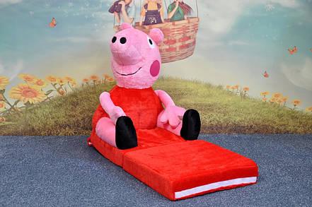 Детское мягкое раскладное кресло Peppa Pig, фото 2