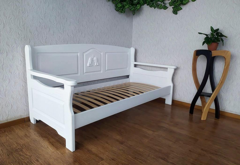 """Белый диван - кровать с декором """"Орфей Премиум"""""""