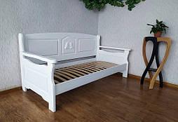 """Белый диван - кровать с декором """"Орфей Премиум"""" 1"""