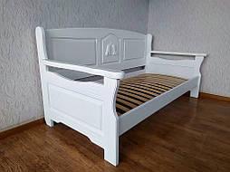 """Белый диван - кровать с декором """"Орфей Премиум"""" 2"""
