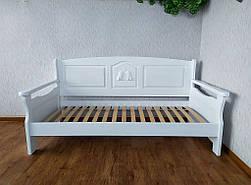 """Белый диван - кровать с декором """"Орфей Премиум"""" 5"""