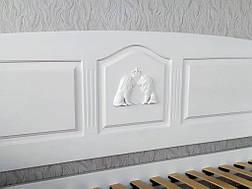 """Белый диван - кровать с декором """"Орфей Премиум"""" 7"""