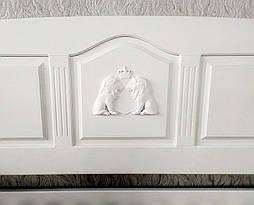 """Белый диван - кровать с декором """"Орфей Премиум"""" 8"""