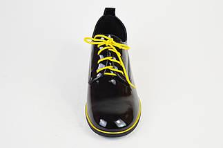 Туфли лакированные Geronea 120192 Черно-желтые, фото 3