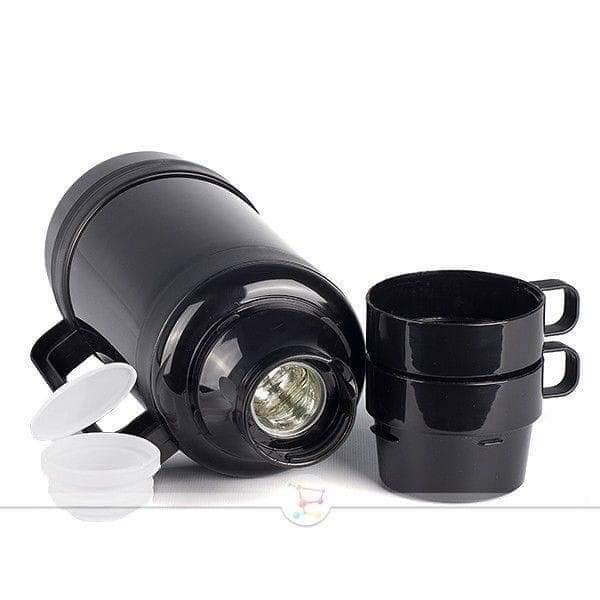 Термос с чашками,стеклянная колба