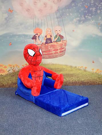 Детское мягкое раскладное кресло Spider man, фото 2