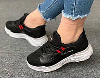 Кросівки жіночі чорного кольору стильні (35,36,37 розмір)