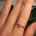 Золотое кольцо с одним камнем - Золотое кольцо с одним цирконием, фото 7
