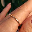 Золотое кольцо с одним камнем - Золотое кольцо с одним цирконием, фото 5