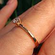 Золотое кольцо с одним камнем - Золотое кольцо с одним цирконием, фото 4