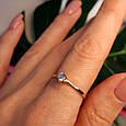 Золотое кольцо с одним камнем - Золотое кольцо с одним цирконием, фото 3
