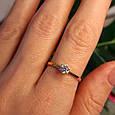 Золотое кольцо с одним камнем - Золотое кольцо с одним цирконием, фото 2