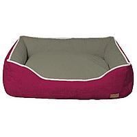 Диван для животного COZY FUXIA, прямоугольный, розово-серый, 60x50x20см