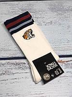 Шкарпетки чоловічі H&M білі з тигром розмір 43-45 (високі), фото 1