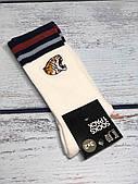 Шкарпетки чоловічі H&M білі з тигром розмір 43-45 (високі)