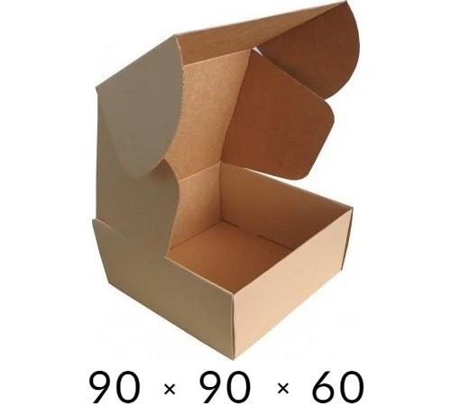 Самосборная картонная коробка - 90 × 90 × 60 - бурая / объем 0,2 кг