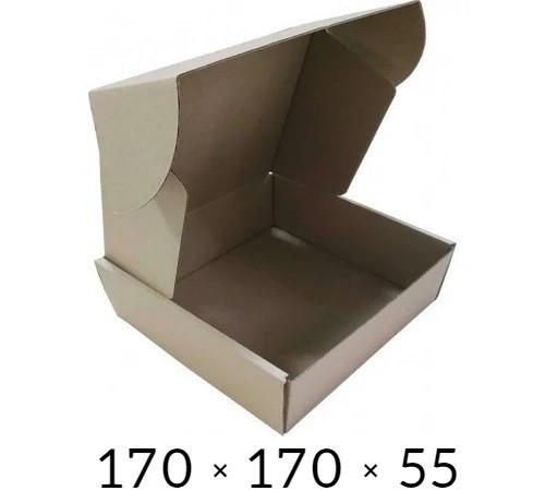 Самосборная картонная коробка - 170 × 170 × 55 на 0,5 кг