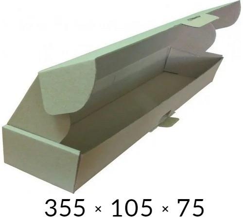 Самосборная картонная коробка - 355 × 105 × 75 - бурая / объем 0,9 кг