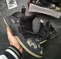 Nike LeBron Soldier 12 Black Camo | кроссовки мужские; камуфляж; найк