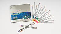 Цветные карандаши MARCO RAFFINE. В металлическом пенале 24 цвета