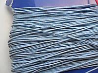 Шнур вощений, 1 мм, блакитний