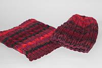 Вязаная шапка и шарф труба (манишка)полностью шерсть