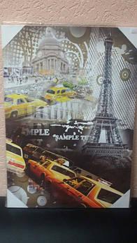 Картина на дереве Париж