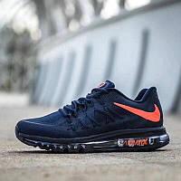 Кросівки чоловічі в стилі  Nike Air Max 2015   темно сині   ТОП якість
