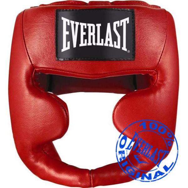 Оригинальный боксерский шлем Эверласт. Шлем боксерский Everlast EverCool красный.