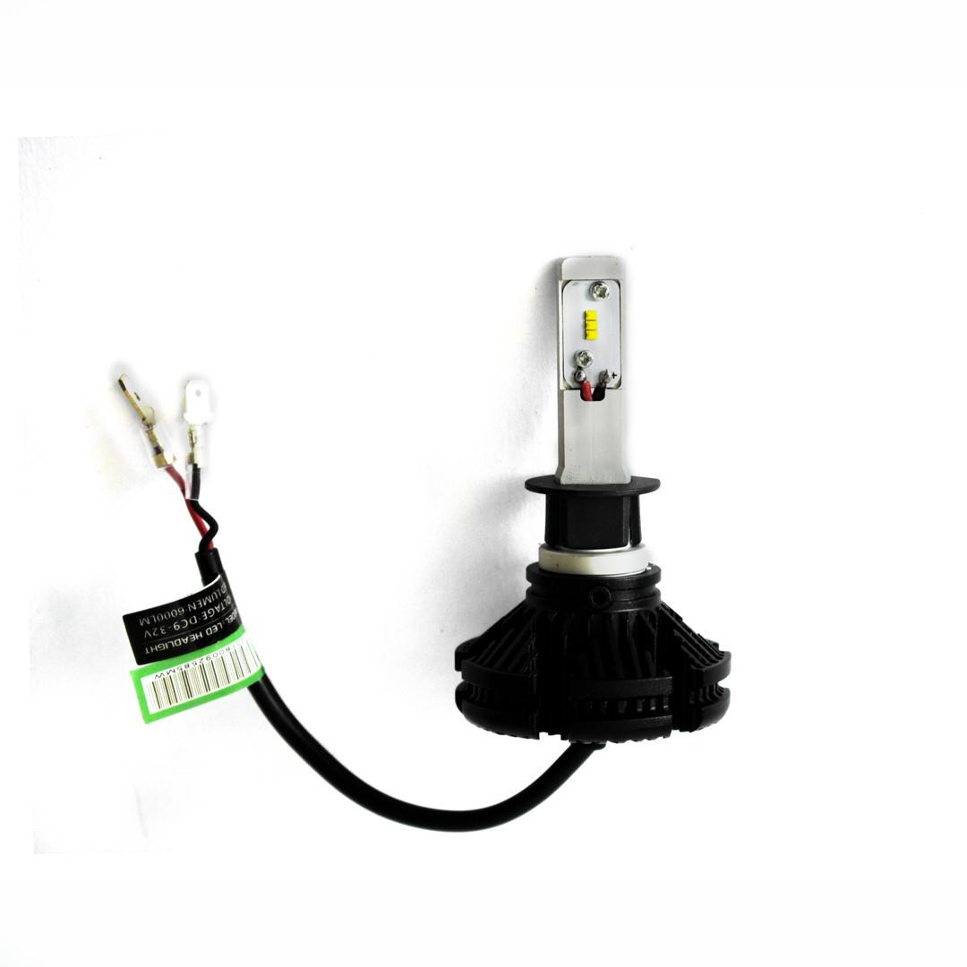 LED Лампы X3 Philips 50W (Цоколь H1) (лэдавтолампы с активным охлаждением и ip67)+ПОДАРОК!