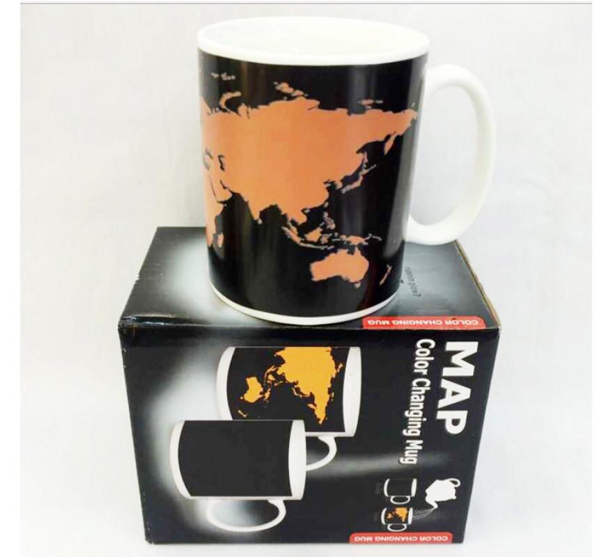 Чашка чайная хамелеон Карта мира